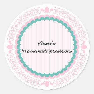 Etiqueta para conservas caseiros