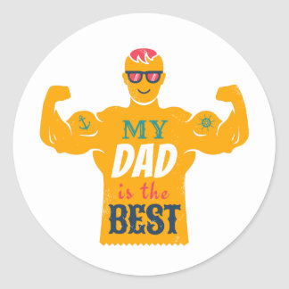 Etiqueta para o dia de pai