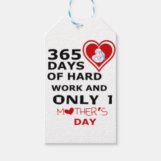 Etiqueta Para Presente 365 dias do trabalho duro e do somente 1 dia das