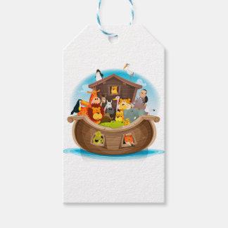 Etiqueta Para Presente A arca de Noah com animais da selva