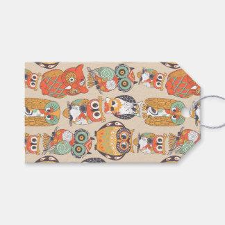 Etiqueta Para Presente A coruja seja Tag do presente da coleção