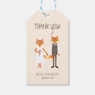 Etiqueta Para Presente A floresta lunática Foxes Tag do presente de