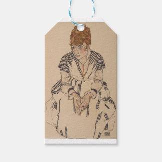 Etiqueta Para Presente A irmã do artista de Egon Schiele- na lei