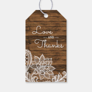 Etiqueta Para Presente A madeira rústica e ata o obrigado Wedding do