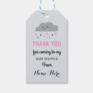 Etiqueta Para Presente A menina cor-de-rosa de sono da chuva do chá de