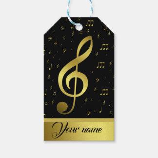 Etiqueta Para Presente a música do ouro nota o modelo do nae