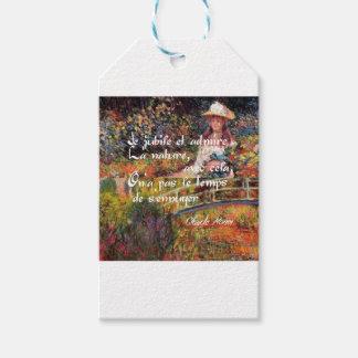 Etiqueta Para Presente A natureza no art. de Monet