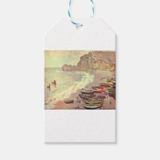 Etiqueta Para Presente A praia em Etretat - Claude Monet
