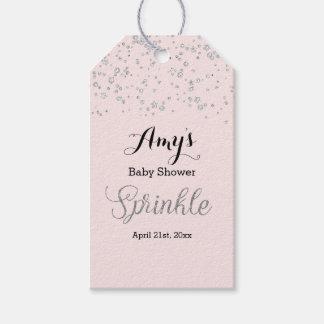Etiqueta Para Presente A prata cor-de-rosa polvilha Tag do presente do