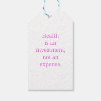 Etiqueta Para Presente A saúde é um investimento…