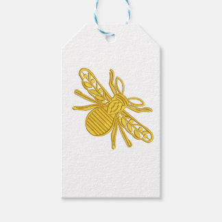 Etiqueta Para Presente abelha real, imitação do bordado