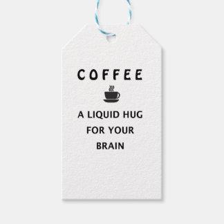Etiqueta Para Presente Abraço líquido do café para seu cérebro