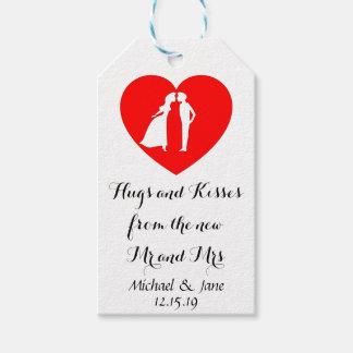 Etiqueta Para Presente Abraços e beijos do Sr. e da Sra. Casamento Tag
