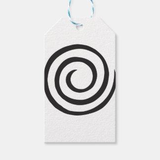 Etiqueta Para Presente Abstrato espiral