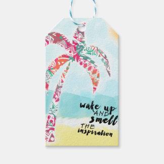 Etiqueta Para Presente acorde e cheire a inspiração, a praia e a palma