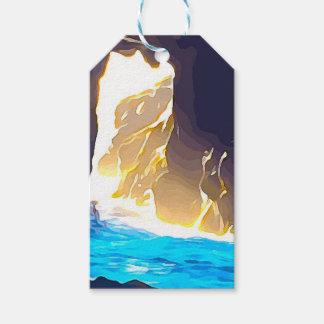 Etiqueta Para Presente Água através da rocha Carmel