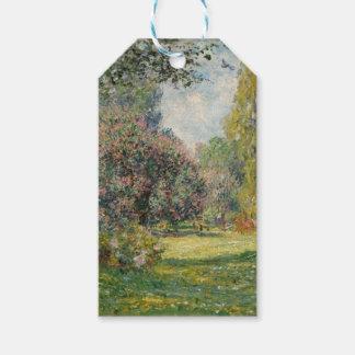 Etiqueta Para Presente Ajardine o Parc Monceau - Claude Monet