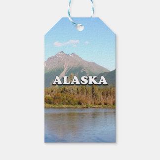 Etiqueta Para Presente Alaska: montanhas, floresta e rio, EUA