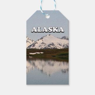 Etiqueta Para Presente Alaska: Reflexões do lago das montanhas