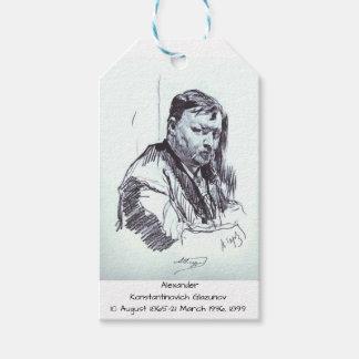 Etiqueta Para Presente Alexander Konstantinovich Glazunov 1899
