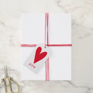 Etiqueta Para Presente Ame-o dia dos namorados vermelho do coração de |