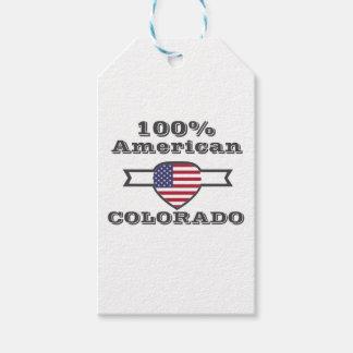 Etiqueta Para Presente Americano de 100%, Colorado