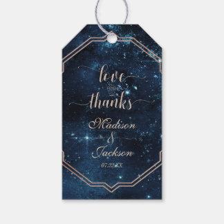 Etiqueta Para Presente Amor celestial & obrigados do casamento da galáxia