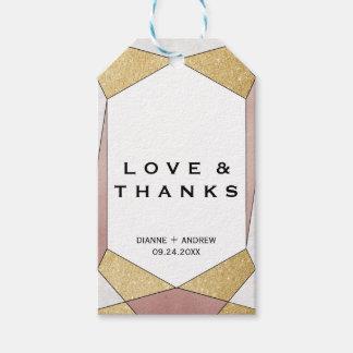 Etiqueta Para Presente Amor geométrico Glam & obrigados do diamante