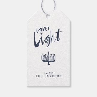 Etiqueta Para Presente Amor + Tag claro do presente de Hanukkah -
