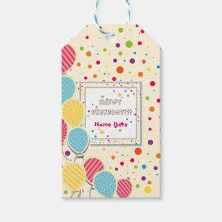 Etiqueta Para Presente Aniversário colorido feliz