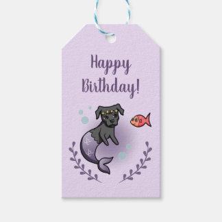 Etiqueta Para Presente Aniversário do pitbull 2 da sereia