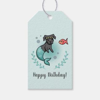 Etiqueta Para Presente Aniversário do pitbull da sereia