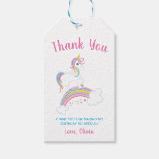 Etiqueta Para Presente Aniversário mágico do unicórnio do arco-íris