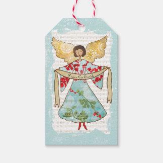 Etiqueta Para Presente Anjo do Natal personalizado