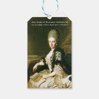 Etiqueta Para Presente Anna Amalia de Brunsvique-Wolfenbuttel 1739-1807