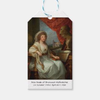 Etiqueta Para Presente Anna Amalia de Brunsvique-Wolfenbuttel 1788