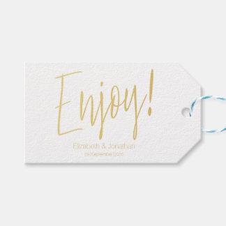 """Etiqueta Para Presente """"Aprecie"""" o Tag do favor do casamento da"""