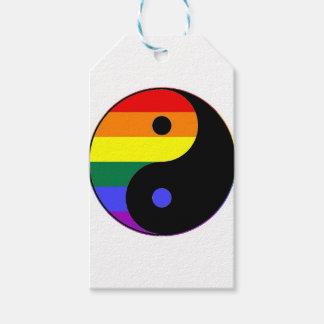 Etiqueta Para Presente Arco-íris Yin e Yang - cores do arco-íris do