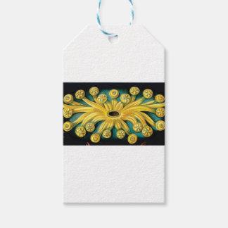 Etiqueta Para Presente arte amarela da explosão da flor