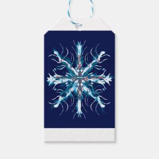 Etiqueta Para Presente Arte do autismo do floco de neve