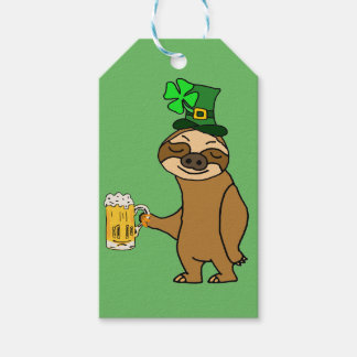 Etiqueta Para Presente Arte do dia de St Patrick engraçado da cerveja do