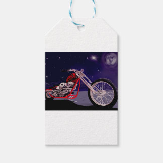 Etiqueta Para Presente Arte do luar da motocicleta