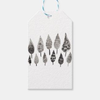Etiqueta Para Presente Árvores abstratas da mancha da tinta