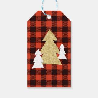 Etiqueta Para Presente Árvores de Natal em Tag vermelhos do presente da