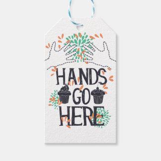 Etiqueta Para Presente as mãos vão aqui