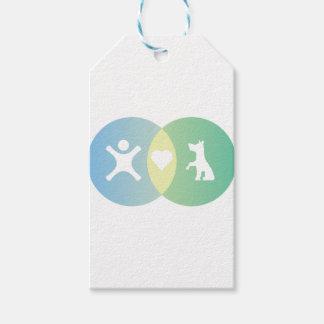 Etiqueta Para Presente As pessoas do coração perseguem o diagrama de Venn