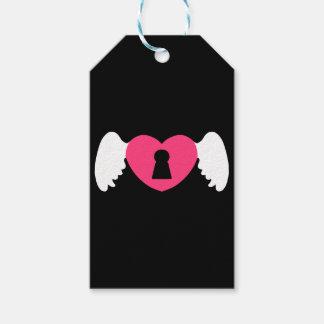 Etiqueta Para Presente Asa do coração do buraco da fechadura