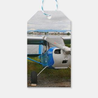 Etiqueta Para Presente Aviões altos da asa, azul & branco, Alaska