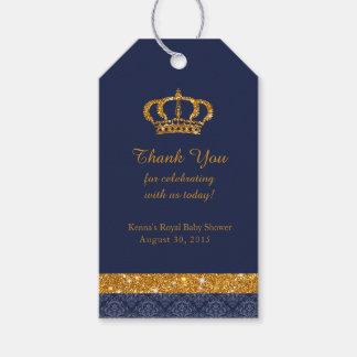Etiqueta Para Presente Azuis marinhos do príncipe Real e Tag pequenos do