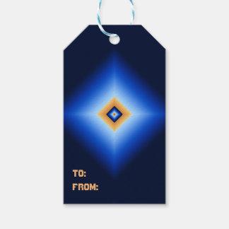 Etiqueta Para Presente Azul e diamante de Tan